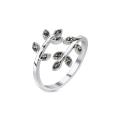 Black Crystal Vine Ring