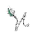 Crystal Leaf Ring