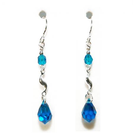Ocean Crystal Earrings